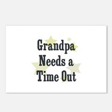 Grandpa Needs a Time Out Postcards (Package of 8)