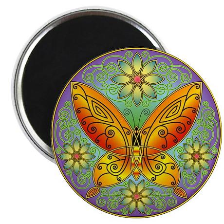 "Celtic Butterfly (orange) 2.25"" Magnet (10 pack)"
