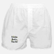 Grandpa Needs a Time Out Boxer Shorts