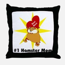 #1 Hamster Mom Throw Pillow