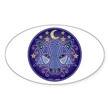 Celtic Wolf Oval Decal