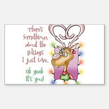 Reindeer Love Rectangle Decal