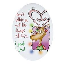 Reindeer Love Oval Ornament