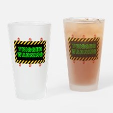 Trigger Warning Drinking Glass