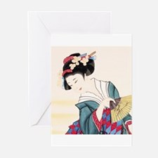 Geisha21 Greeting Cards