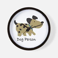 Dog Person Wall Clock