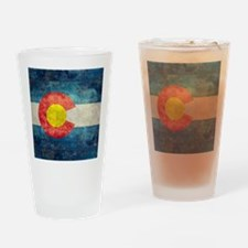 Colorado State Flag - Retro Style Drinking Glass