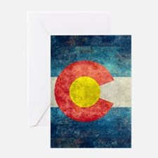 Colorado State Flag - Retro Style Greeting Cards