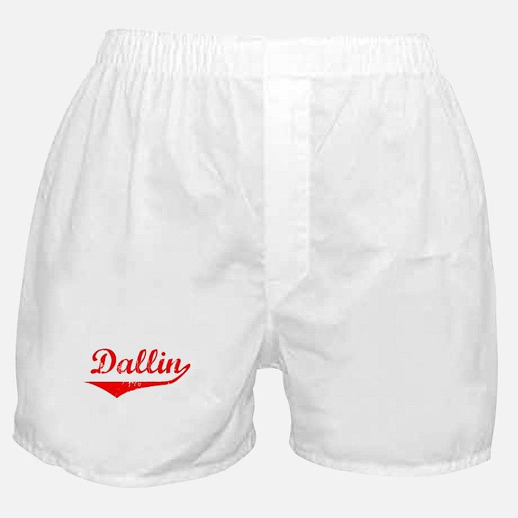 Dallin Vintage (Red) Boxer Shorts