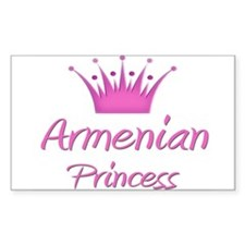 Armenian Princess Rectangle Decal