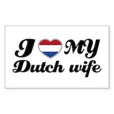 I love my dutch wife Rectangle Decal
