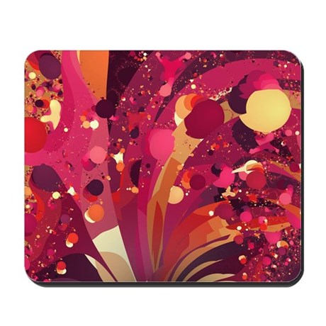 New Year's Eve Confetti Fractal Mousepad