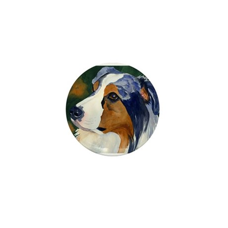 Australian Shepherd Dog Mini Button (10 pack)