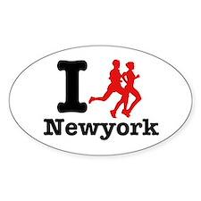 I run Newyork Oval Decal