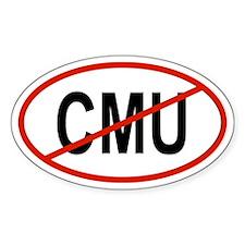 CMU Oval Decal