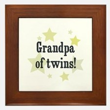 Grandpa of twins! Framed Tile