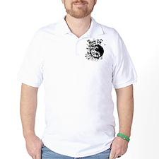 Buddha Design in Black T-Shirt