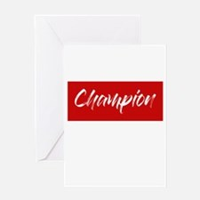 inspiration text- champion frame re Greeting Cards