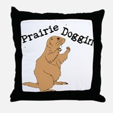 Prairie Doggin Throw Pillow