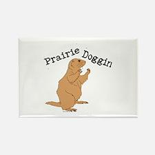 Prairie Doggin Rectangle Magnet
