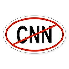 CNN Oval Decal