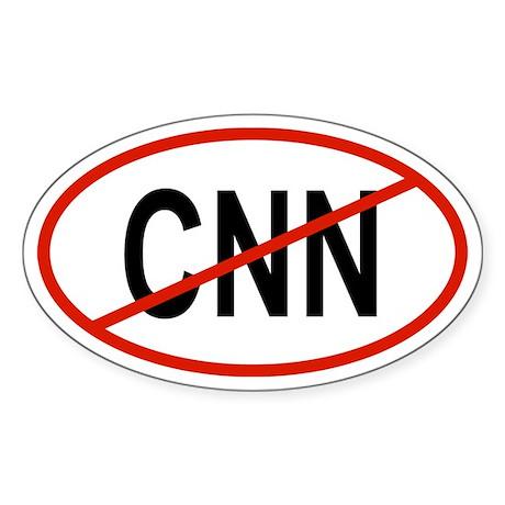 CNN Oval Sticker