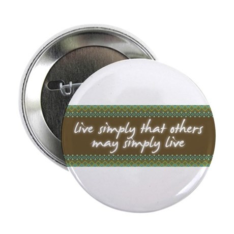 """Live Simply 2.25"""" Button (100 pack)"""