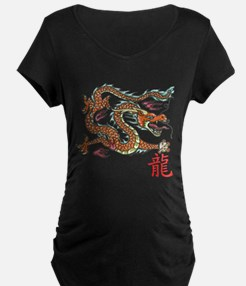 Chinese Dragon NEW red Maternity T-Shirt