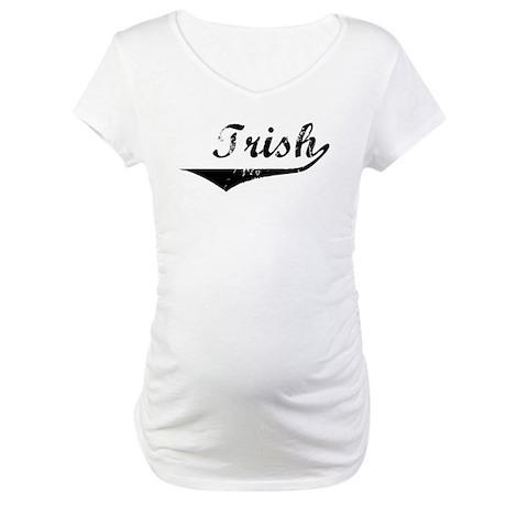 Trish Vintage (Black) Maternity T-Shirt