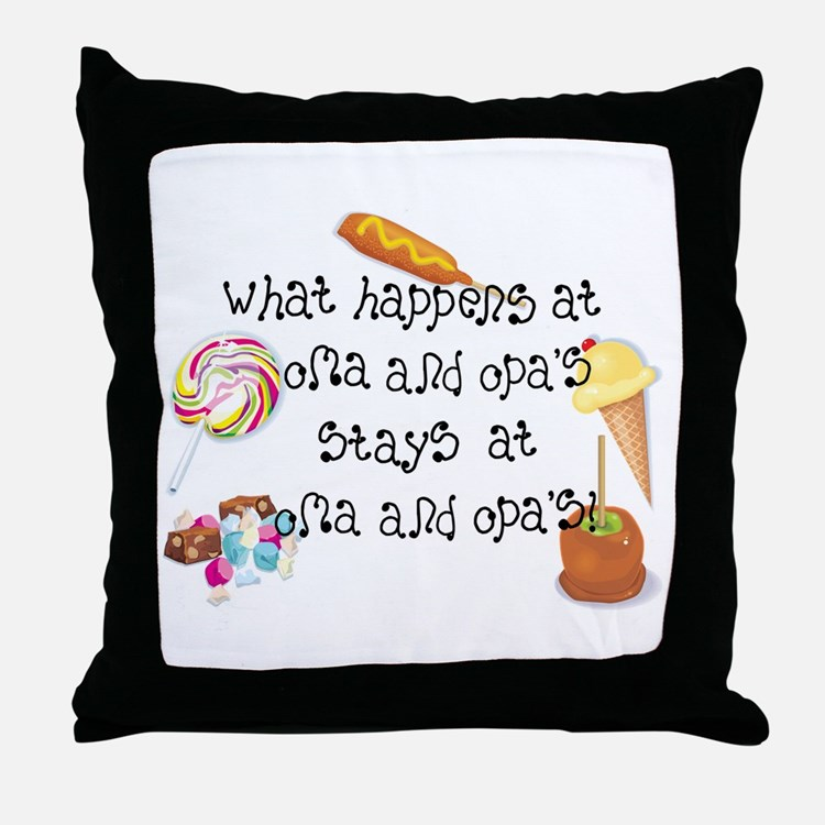 What Happens at Oma and Opa's... Throw Pillow