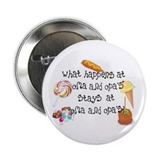 """What Happens at Oma and Opa's... 2.25"""" Button (10"""