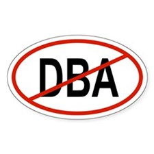 DBA Oval Decal