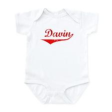 Davin Vintage (Red) Onesie