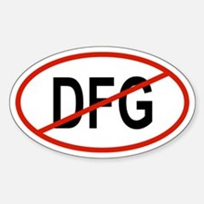 DFG Oval Decal