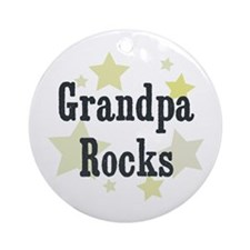 Grandpa Rocks Ornament (Round)