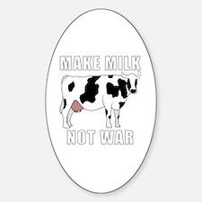 Cute Peace love cow Sticker (Oval)