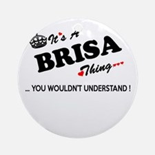 BRISA thing, you wouldn't understan Round Ornament