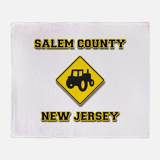 Salem County NJ Agriculture Throw Blanket