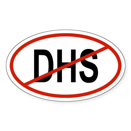 DHS Oval Sticker