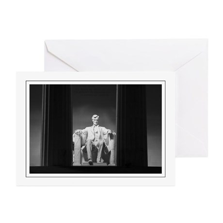 Lincoln Memorial Night Greeting Cards (Pk of 10)