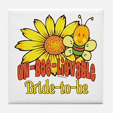 Unbelievable Bride-to-be Tile Coaster