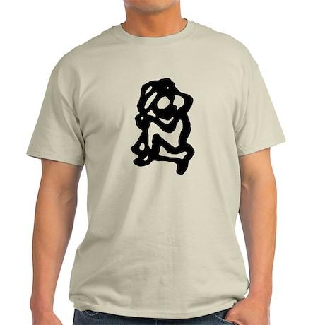 Black yoga figure Light T-Shirt