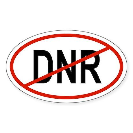 DNR Oval Sticker
