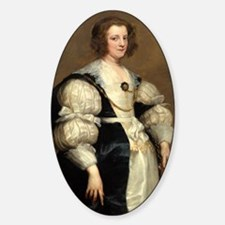 Lady with a Fan by Sir Anthony van Dyck Decal