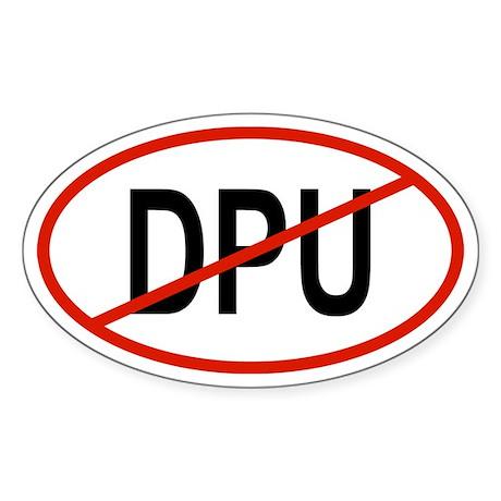 DPU Oval Sticker