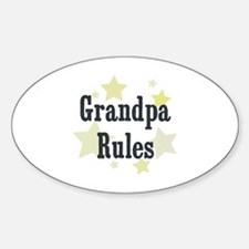 Grandpa Rules Oval Decal