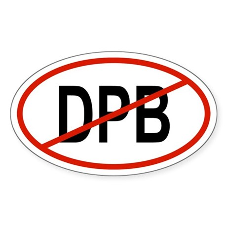 DPB Oval Sticker