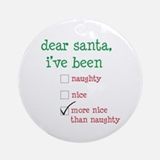 naughty or nice Ornament (Round)