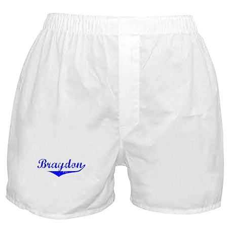 Braydon Vintage (Blue) Boxer Shorts