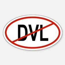 DVL Oval Decal